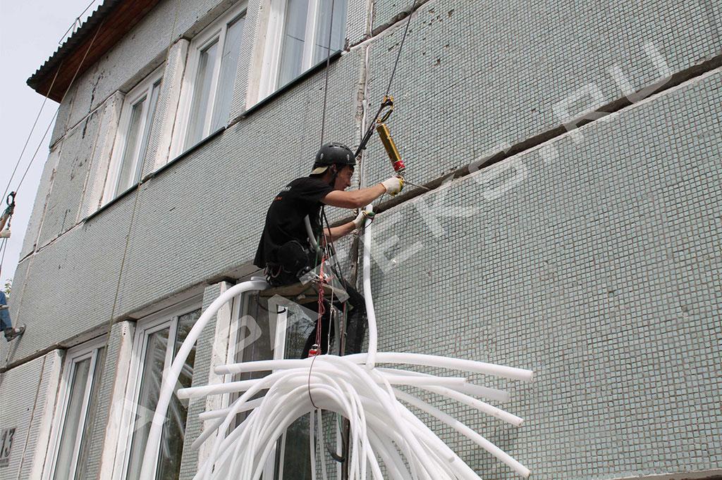 Герметизация наружных швов между окном